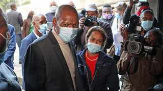 Health Minister Dr Zweli Mkhize visited the Charlotte Maxeke Academic Hospital to assess the extent of the damage caused by the fire. Picture: Timothy Bernard/African News Agency(ANA)