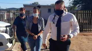 Lieutenant-Colonel Sandra Boshoff, the accused, Suretha Brits, and Brigadier Dick de Waal. Picture: Supplied