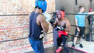 Dwayne Dodzo runs through a sparring session at the MADfit MMA gym. He will make his pro debut on the 25 of March at a Jackie Brice Promotions event. Picture: Tamryn Christians, MzansiMMA