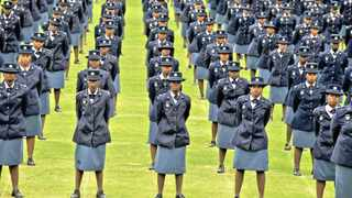 15/12/2009 Newly graduated members of the SAPS during the passing out parade at SAPS Training Institute in Pretoria. Picture: Phill Magakoe