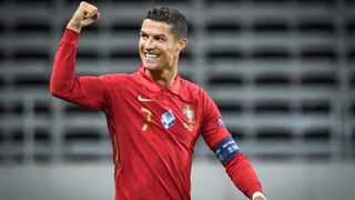 Cristiano Ronaldo celebrates after scoring against Sweden during their Uefa Nations League match. Picture: Janerik Henriksson/AP