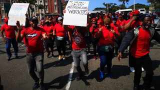 A Cosatu March in Durban this week.