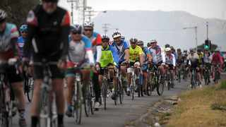 The Pedal Power Association hosted a memorial ride in honour of Lance Botha, who tragically died in Diep River a few weeks ago. Riders cycled to the spot Lance died and chained a white-painted ghost bike to the lamppost in his memory. Picture: Armand Hough/African News Agency