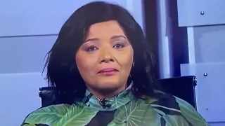 Distraught SABC newsreader Desiree Chauke was overcome by emotions and could not read her bulletin about the public broadcaster's retrenchments. Picture: Screenshot