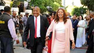 Minister Jackson Mthembu and his wife Thembi arriving in Parliament for State of the Nation Address in Cape Town. Picture: Ayanda Ndamane/African News Agency/ANA