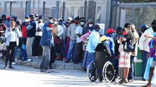 Sassa queues in Khayelitsha during lockdown. Picture: Phando Jikelo/African News Agency(ANA)