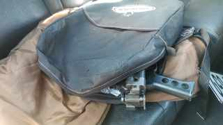 The R5 automatic rifle discovered by police during a crime prevention operation in Khayelitsha on Saturday.