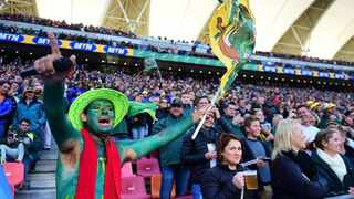 FILE - About 42 000 Springbok fans attended the Castle Champion challenge between South African rugby team and Argentina at the Nelson Mandela Bay stadium in Port Elizabeth. Photo: Phando Jikelo/ANA pictures