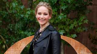 Jennifer Lawrence smiles during a photocall before Dior's Ready To Wear Spring-Summer 2020 collection, unveiled during the fashion week, in Paris. Picture: AP