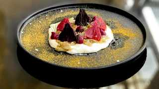The beetroot starter, which also comes with a vegan option. Picture: Supplied