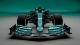 Aston Martin showed off their first Formula One car in 61 years on Wednesday. Photo: @AstonMartinF1