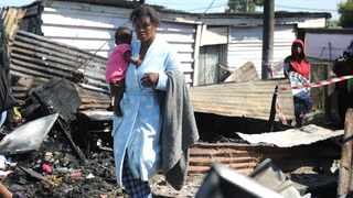 Nolukholo Mhaga lost her two kids after her house caught fire. Picture: Ayanda Ndamane / African News Agency (ANA).