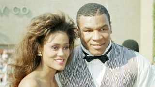 Robin Givens and Mike Tyson, arrive at the 40th annual Emmy Awards in Pasadena in 1988. Picture: AP