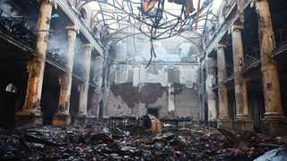 The Reading Room of the Jagger Library has been gutted by the Cape Town fire which was allegedly started by a vagrant near Rhodes Memorial. Picture: Phando Jikelo/African News Agency(ANA)