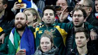 Springbok fans will be hoping to attend the Lions tour. Photo: Yoan Valat/EPA