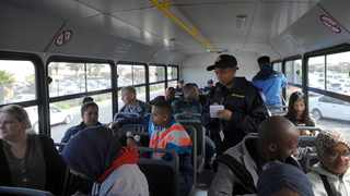 Golden Arrow Bus Service LE ride along with JP Smith, GABS management and officers. Picture: Armand Hough /African News Agency(ANA)