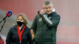 Manchester United manager Ole Gunnar Solskjaer before their Premier League match against rivals Liverpool at Anfield. Photo: Phil Noble/Reuters