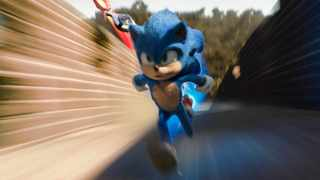 """This image released by Paramount Pictures shows Sonic, voiced by Ben Schwartz, in a scene from """"Sonic the Hedgehog ."""" Picture: Paramount Pictures/Sega of America via AP"""