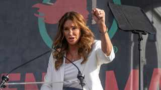 Caitlyn Jenner speaks at the 4th Women's March in Los Angeles on Saturday, Jan. 18, 2020. Picture: AP