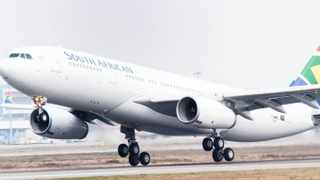 SAA airplane taking off at the OR Tambo international airport.Photo Supplied