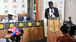 Police Minister General Bheki Cele released report by a panel of experts, looking into policing and crowd control within the South African Police Service. Picture: Ntswe Mokoena/GCIS