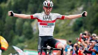 Tadej Pogacar has lit up the Tour de France in the first two mountain stages over the weekend. Photo: TeamUAEAbuDhabi on twitter
