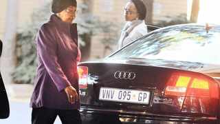 10.06.2013 Winnie Mandela arrives at Medi-Clinic Heart Hospital in Pretoria where former president Nelson Mandela is believed to be undergoing treatment for a recurring lung infection. Picture: Phill Magakoe