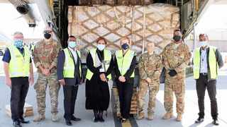 PROTECTIVE equipment for healthcare workers worth R5.9m donated by the US arrives at OR Tambo International Airport.