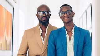 Black Coffee and his son Esona Maphumulo. Picture: Instagram