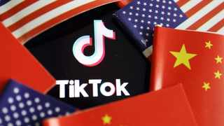 China and US flags are seen near a TikTok logo in this illustration picture. File picture: Reuters
