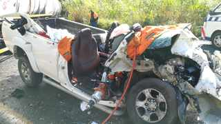 Two people were critically injured in a multiple vehicle pile up on the M7 on Friday. Picture: Netcare 911