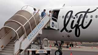 Members of the media had a sneak preview of the Airbus A320 aircraft belonging to South Africa's new airline, dubbed Lift , on Tuesday ahead of the start of the carrier's operations on December 10 when the first flight will commenced. Picture: Ian Landsberg/African News Agency (ANA).