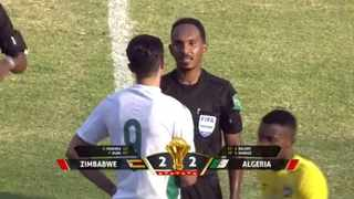 Algeria join Senegal in the 24-team field for the finals, to be held in Cameroon in early 2022, after a 2-2 draw in Harare against Zimbabwe. Photo: screengrab from twitter