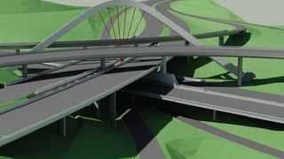 EB Cloete Interchange N2 North and N3 West, known as 'Spaghetti Junction', will have a spectacular arch that will support the N3 carriageway as well as the fly-over directional ramps. The arch will be an iconic landmark as one enters Durban on the N3.