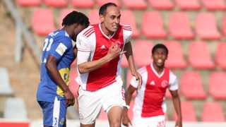 Ajax Cape Town Eleazar Rodgers scored in their previous playoff match against TTM. Picture: Muzi Ntombela/BackpagePix