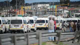 Amid ongoing tension at the Bellville taxi rank, 300 minibus taxis blockaded the R300 and Mew Way road on Tuesday. Picture: Henk Kruger/African News Agency (ANA)