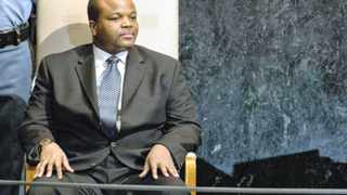 Mswati III, King of Swaziland, waits to address the 67th session of the United Nations General Assembly at U.N. headquarters in New York, September 26, 2012. REUTERS/Ray Stubblebine (UNITED STATES - Tags: POLITICS)