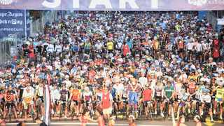 Thousands at the starting line at last year's Cape Town Cycle Tour. File picture: Ross Jansen