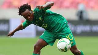 Apart from the well-taken goals, Percy Tau twice intervened in the matches against Sao Tome and Principe when it seemed that Bafana was running out of ideas. Picture: Muzi Ntombela/BackpagePix