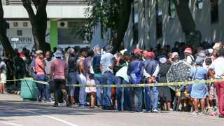 Panic-stricken Durbanites flocked to the Department of Labour's offices in Pinetown to sign for their next Unemployment Insurance Fund (UIF) cheque before the start of the national lockdown. Picture: Leon Lestrade/African News Agency(ANA)