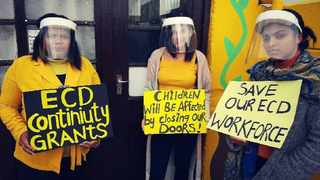 ECD workers fighting for the sector. Picture: Supplied