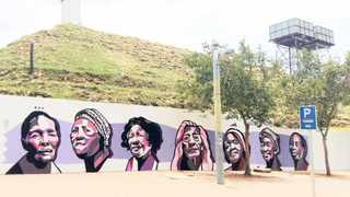 FACES OF ART: Works of art by Nardstar, who is one of South Africa's few successful commercial graffiti artists.