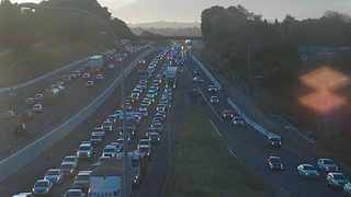 The N1 inbound at Jip De Jager on Monday, July 23, at 8.30am. Picture: Cape Town FMS (@CapeTownFreeway)