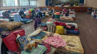 Homeless people are still be accommodated at the Lyttelton Community Hall. Picture: James Mahlokwane