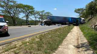 One man was killed and another was injured on Friday when two trucks collided on the N4 Schagen outside of Nelspruit. Picture: Supplied (ER24)