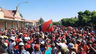 EFF supporters welcome their leadership as they arrive in Senekal.Picture: Oupa Mokoena/African News Agency (ANA)