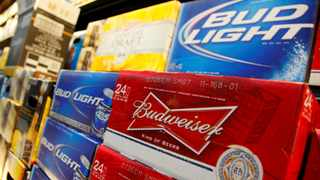 FILE PHOTO: Anheuser Busch's Budweiser and Bud Light Beer on display at a Wal-Mart store in Chicago