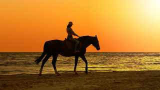 Bhangazi Horse Safaris offers relaxing beach rides at the Main Beach in St Lucia. Picture: Supplied.
