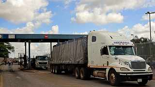 A truck arrives in South Africa from Zimbabwe. Picture: Timothy Bernard/African News Agency(ANA)