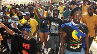 University of Johannesburg students march over fee-related issues in Auckland Park. File picture: Itumeleng English/African News Agency(ANA)